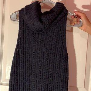 Hollister turtle neck dark navy sweater top